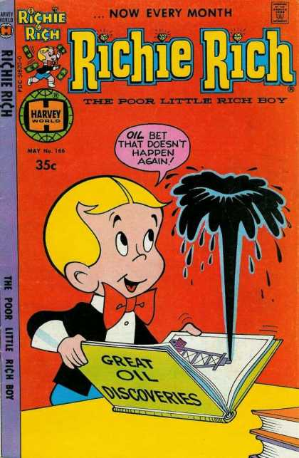 Richie Rich 166 - Harvey World - Oil - Bowtie - Poor Little Rich Boy - Book