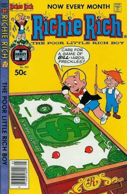 Richie Rich 202 - Money - Pool - Stick - Boy - Game