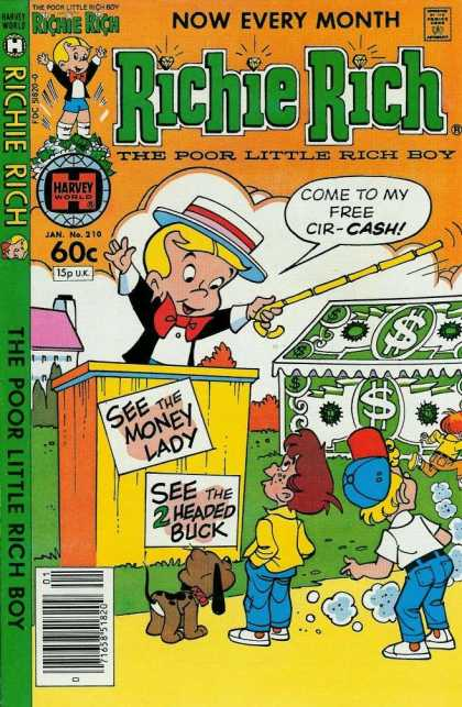 Richie Rich 210 - Boys - Money - Dog - Hat - Stick