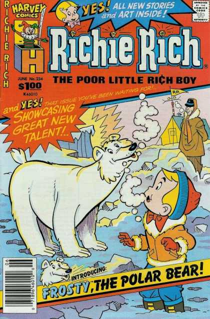 Richie Rich 234 - Harvey Comics - Approved By The Comics Code Authority - The Poor Little Rich Boy - Frostythe Polar Bear - All New Stories And Art Inside