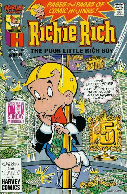 Richie Rich 248 - Money - Bills - Blonde - Gold - Kid