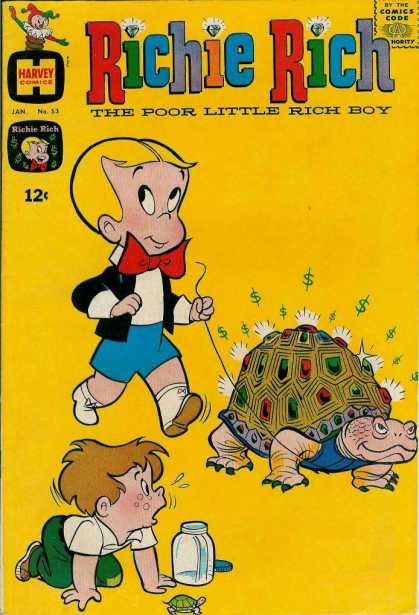 Richie Rich 53 - Turtle - Jar - Boys - Walking - Gems