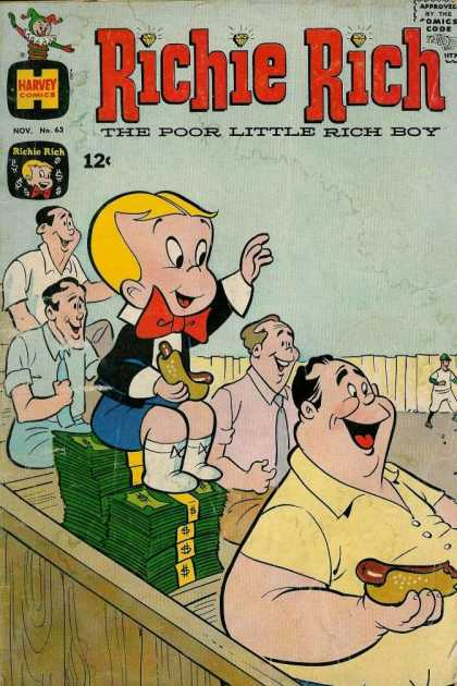 Richie Rich 63 - Harvey - The Poor Little Rich Boy - Hot Dog - Money - Ballgame