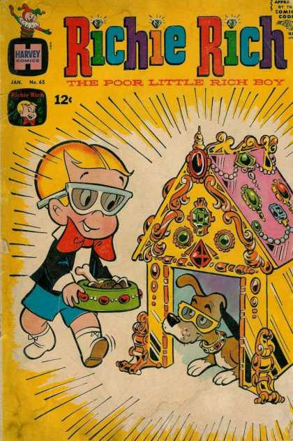 Richie Rich 65 - Boy - Dog - Bone - Dish - Doghouse