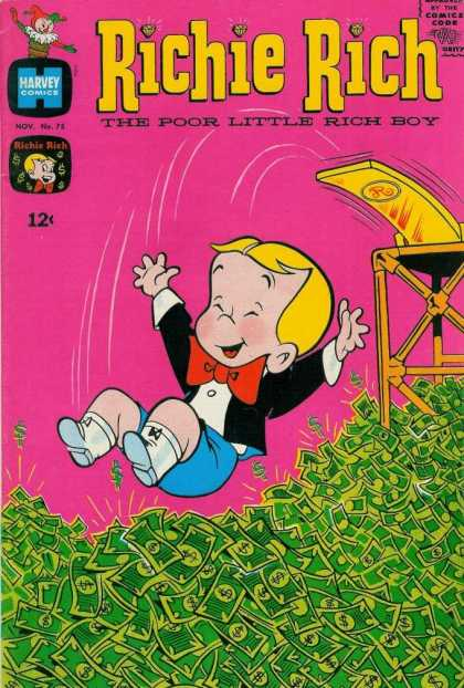 Richie Rich 75 - Rich Boy - Money - Bright Comic - Classic Comic - Having Fun