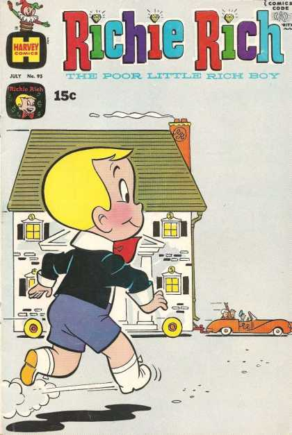 Richie Rich 95 - Harvey - 15 Cents - House - Blonde - Boy