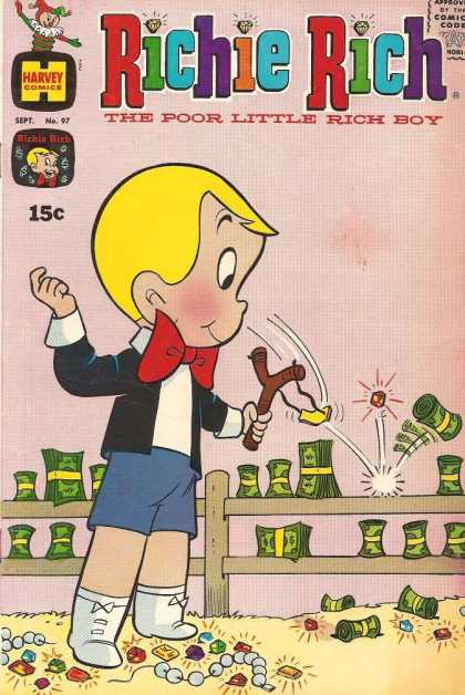 Richie Rich 97 - Harvey Comics - Boy - Approved By The Comics Code - Money - Treasure