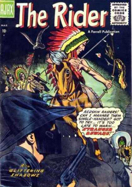 Rider 1 - Glittering Shadows - Indian On Horse - Cowboys And Indians - 10 A Comic - Ferrell Publication