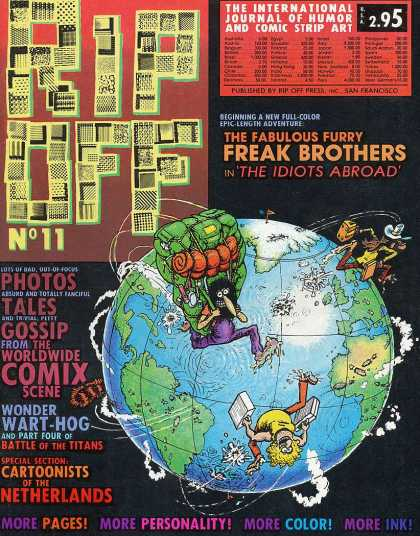 Rip Off Comix 11 - Wonder Wart-hog - World - Backpack - Suitcase - Freak Brothers
