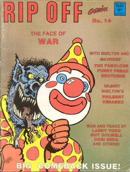 Rip Off Comix 14 - Rip Off - The Face Of War - Face Of War - Comix - Freak Brothers