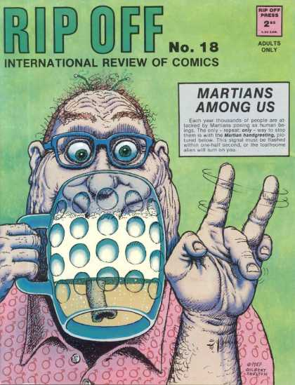 Rip Off Comix 18 - Martians Among Us - Cup - Man - Adults Only - Rip Off Press