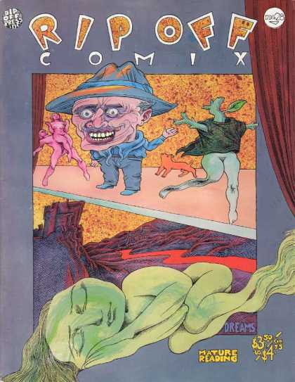 Rip Off Comix 28 - Unproportional - Nude Dancers - Stage - Winding Road - Scary Man