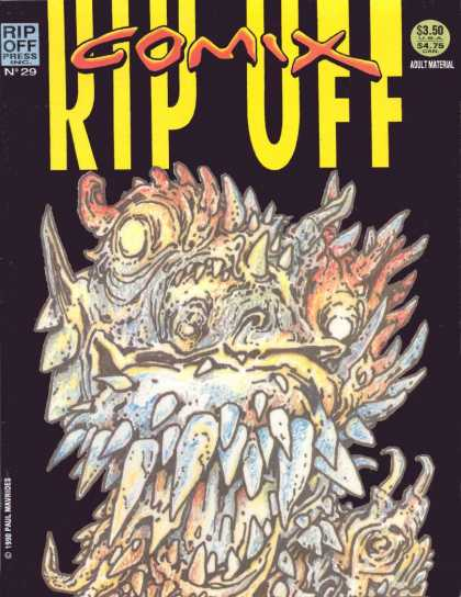 Rip Off Comix 29 - Adult Material - Fangs And Teeth - Mutant - Snarl - Monster