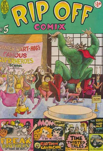 Rip Off Comix 5 - Superheroes - School - Mom Squad - Flying - Freak Brothers