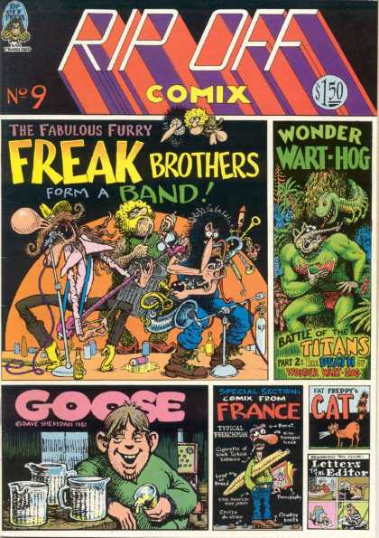 Rip Off Comix 9 - Freak Brothers - Wonder Wart-hog - Band - Fabulous Furry - Cat