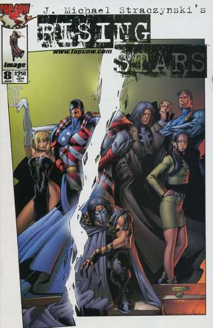 Rising Stars 8 - Top Cow Comics - J Michael Straczynski - New Super Heros - The Good Guys - Heroes In Training