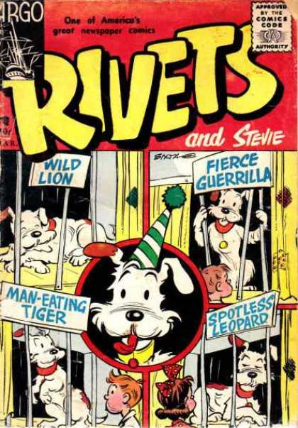 Rivets 2 - Newspaper Comic - Dog Pretending To Be Other Animals - Cargo Ship In Upper Left Hand Corner - Far Condition - Rivets The Dog