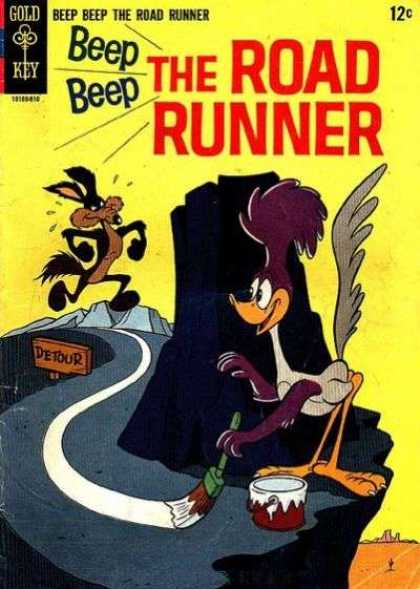 Road Runner 1 - Off The Cliff - Bang - Buck - Here I Come - Splat