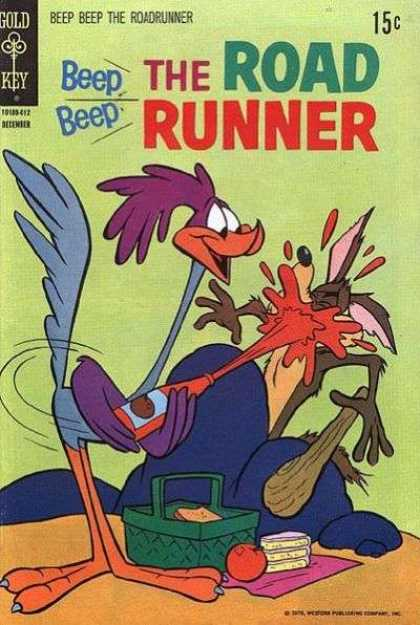 Road Runner 21 - Catsup - Apple - Cake - Sandwich - Picnic Basket