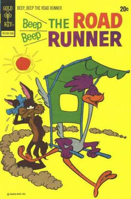 Road Runner 36 - Coyote - Bird - Hot Sun - Hankerchief - Running