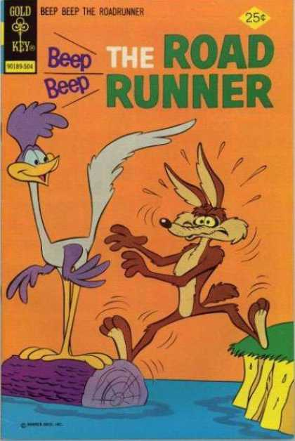 Road Runner 49 - Gold Key - Beep - The Roadrunner - Wood - Water