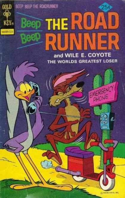 Road Runner 53 - Wile E Coyote - Phone - Cactus - Scooter - Hit