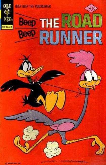 Road Runner 61 - Daffy - String Around Neck - Running - Flying - Red
