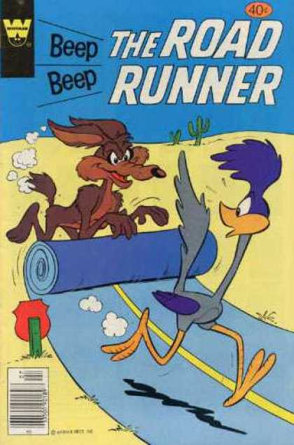 Road Runner 81 - Coyote - Beep Beep - Cactus - Road - Stop Sign