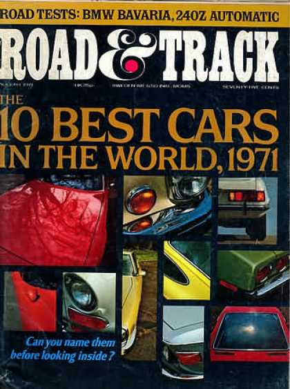 Road & Track - August 1971