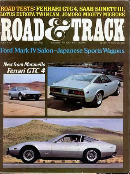Road & Track - July 1972