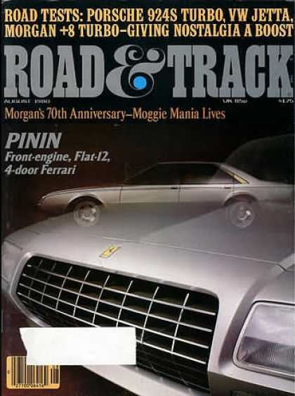 Road & Track - August 1980