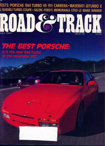 Road & Track - July 1985