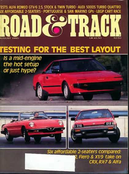 Road & Track - August 1985