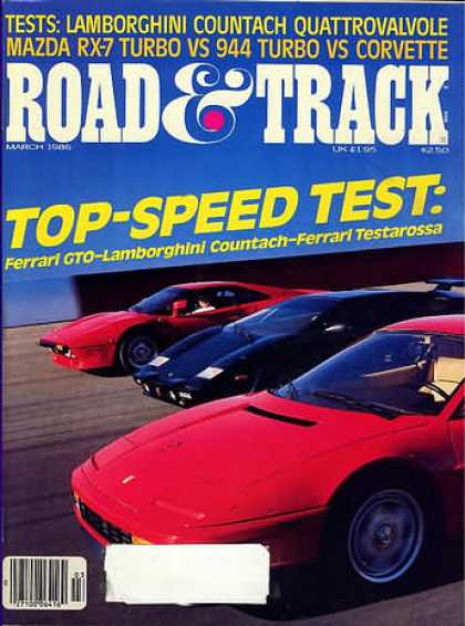 Road & Track - March 1986