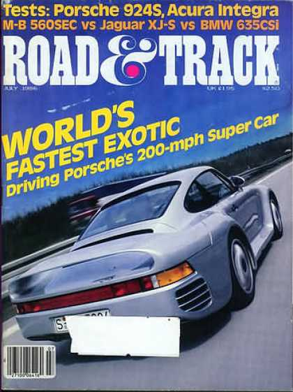 Road & Track - July 1986