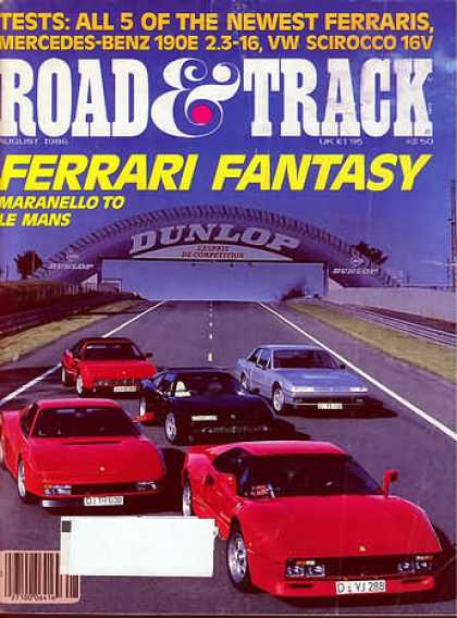 Road & Track - August 1986