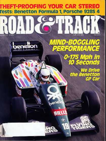 Road & Track - March 1987