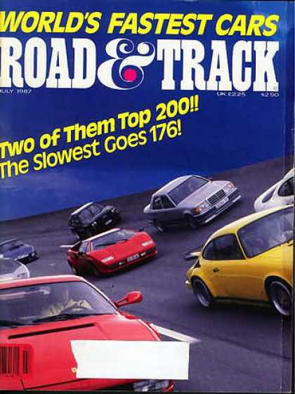 Road & Track - July 1987