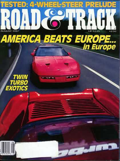 Road & Track - August 1987