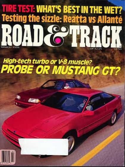 Road & Track - March 1988