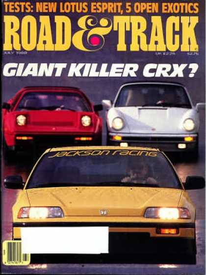 Road & Track - July 1988