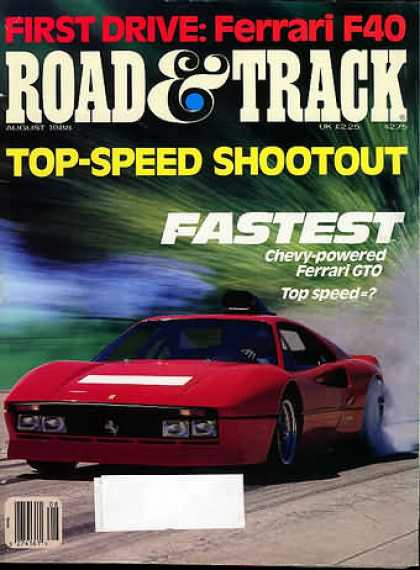Road & Track - August 1988