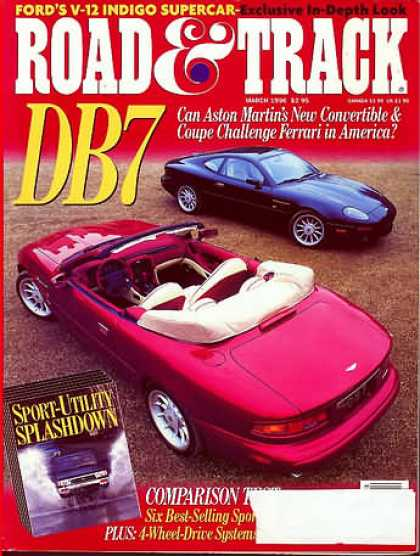 Road & Track - March 1996