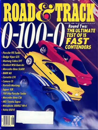 Road & Track - August 1996