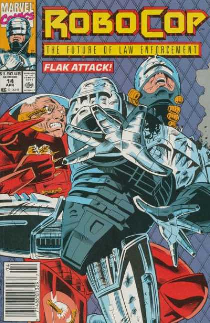 Robocop 14 - Marvel Comics - The Future Of Law Enforcement - Flak Attack - 150 Us - 14 Apr