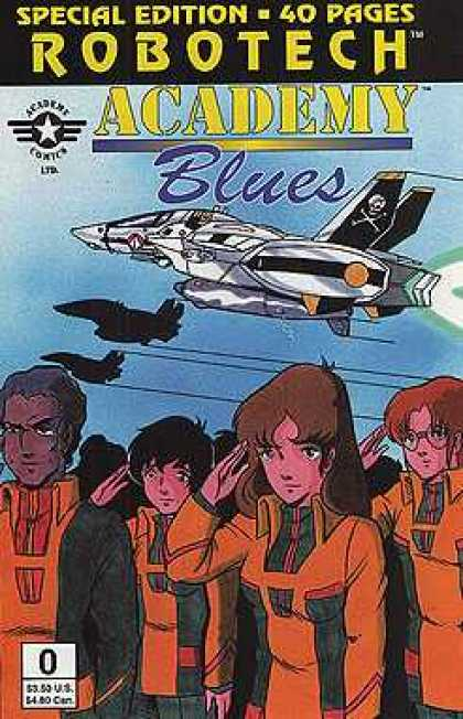 Robotech: Academy Blues 0 - Special Editiom - Aircraft - Salute - Jet - Skull And Cross Bones