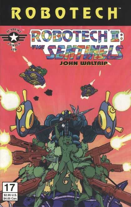 Robotech 17 - Space Ships - Red Sky - John Waltrip - Robots - Green Martian