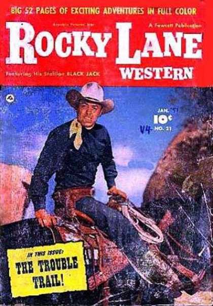 Rocky Lane Western 21 - Cowboy - Horse - Rope - Travel - Revolver
