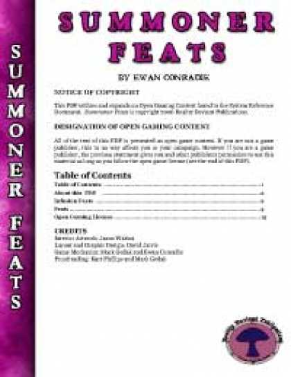 Role Playing Games - RDP: Summoner Feats