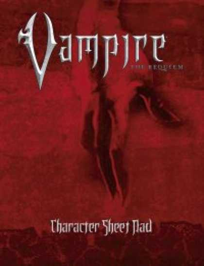 Role Playing Games - Vampire: The Requiem Character Sheet Pad
